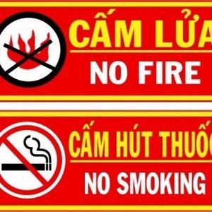 Cấm lửa - cấm thuốc